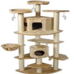Go Pet Club Cat Tree, 80u201d, Beige